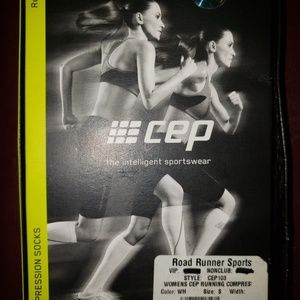 CEP Womans White Running Compression Socks S New